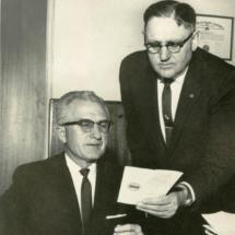 Dr. Cornette and Milton Morris