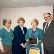 Fran Morrison, Cathy Wright, Koell McKay, and Milton Morris; 1987