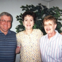 Mike, Debbie, Cathy; March 2000